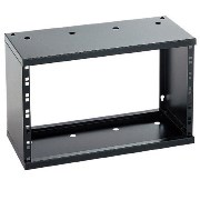 "Wall Mount Rack 19"" 4HE Black"