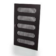 Rack Door 12U Wood Black Ventilated