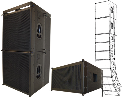 prophon line array pla21021, pls215s
